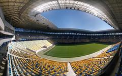 Wide-Angle View of Arena Lviv (tarmo888) Tags: lg nexus5 android smartphone geotaggedphoto geosetter sooc photoimage foto year2016 special ukraine  ukrayina   lviv lww lvov lemberg   leopolis lwow photospherepanorama fisheye amazing pov