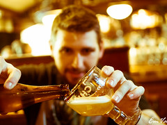 Chimay in progress (Lalykse) Tags: man homme bire emvaphotography nikond3200 beer chimay colors color alcohol alcool