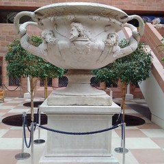 From the Emperor Hadrian's palace at Tivoli (gowersaint) Tags: britain uk scotland glasgow burrell burellcollection museum art culture artistry craft craftmanship ancient manmade human wonderful precious ingenious powerful moving roman warwick history historic faces male men gods heros imperial courtyard light massive emperor bowl hadrian symbolic loot classical
