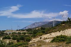 On the hills (Steenjep) Tags: mountain outback hillside green nature samos greece holiday ferie grkenland vindmlle windmill windturbine denmark negmicon
