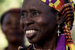 Mama (LaClaireMadeleine) Tags: africa mama religion tradition culture smile charity tribe tribal dance cerimony sociology african woman scar scars traditional experience safari locals travelphotography swahili tanzania