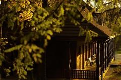 Empty drinking-house in Wysowa (Zyla, K. alone) Tags: beskyds autumn polska art wysowa afternoon pentaxart jesień beskidniski architecture poland thebp inexplore pentaxsmc