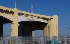 Almost Gone !  Sixth St. Bridge, LA (Joey Z1) Tags: remainsofthe6thstbridgelosangeles sixthstbridge remainsofthebridge las6thstbridge laasseenbyjoeyz1 laarchitecture remains urbandecay downtownlosangeles dtla urbanscene urbanscenelosangeles labridge pentaxks1 bylaphotolaureatejoeyzanotti infrastructure architecture bridgearchitecture arch