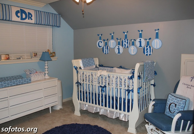 decoração de quarto de bebe homem