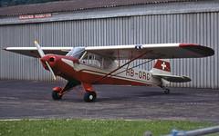 HB-ORC (Paul Thallon - Aviation Photos) Tags: piper supercub brn pa18 lszb bernbelp bernairport 186754 hborc