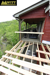 Deck under construction! (WittBuildingCompanyInc) Tags: blue house building home ga georgia bathroom photography log construction cabin garage basement ridge company garrett deck anderson siding renovation remodel custom inc witt renovate roofing porches gilmer ellijay fannin gutting