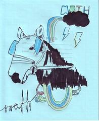math (stepanton) Tags: horse art drawing math foal