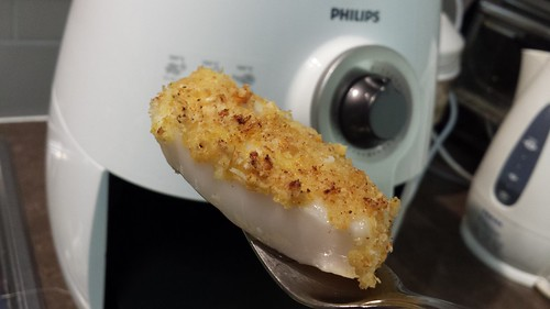 Crumbed fish from Philips Airfyer