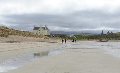 260-20130511_Faraid Head walk-Sutherland-Balnakeil House and Church viewed from beach of Balnakeil Bay (Nick Kaye) Tags: church landscape coast scotland highlands sutherland