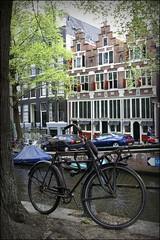 (Iam Marjon Bleeker) Tags: holland amsterdam bike bicycle canal spring jordaan gracht springinamsterdam abikeinamsterdam harrywestertoren116g