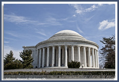 Jefferson Memorial (walla2chick) Tags: usa clouds memorial side jefferson washdc topazadjust 4230ta