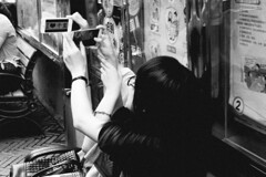 Nameless (Spontaneousnap) Tags: life china street city people urban blackandwhite bw asia shanghai candid documentary like  ricohgr spontaneousnap publicareas