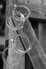 Wind chimes (smitchelrific) Tags: geometric circles glass chimes wind blackandwhite