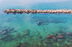 Immersa solitudine (MaryMaga) Tags: sfumature beach italy italia apulia puglia barca lungomare taranto