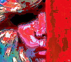 Fading Beauty (Rob Goldstein -Thanks for your support) Tags: abstract abstracted colorful surreal illustration vibrant virtualreality vivid virtualwomen artbyrobgoldstein foto art wordpress poetry amwriting