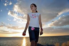 Pokmon Master (JasonCameron) Tags: pokmon master pokemon go sunset girl cute play fun game nintendo niantic pokeballs balls summer great salt lake dusk