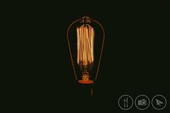 Self Powered (Adrian Court LRPS) Tags: bayonet black bulb dark electric electricity light lightbulbs lowkey minimalist orange reflections rim studio tabletop tungsten bcc062016 glow monkstonpark england unitedkingdom gb