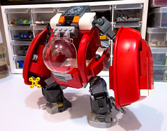 Red mech (chubbybots) Tags: lego duplo mech