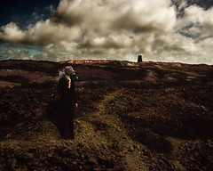Fallen from Grace (Manadh) Tags: parys mountain copper mine anglesey parysmountain coppermine gasmask landscape conceptual clouds windy portrait dark alone postapocalyptic pentax k3 sigma 1835mm