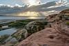 Heaven on Earth. (alun.disley@ntlworld.com) Tags: sunset sunbeams weather beach hilbreisland wirral england uk nature sandstone rock sea seascape landscape waterclouds sky riverdee wales
