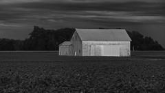 White Barn (ramseybuckeye) Tags: allen county ohio pentax art life clouds sky rural country dark white barn farm fields