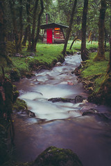 Thar an Altain (Cocktus) Tags: grass hut cottage nature water stream moody woodland summer scotland river forest romantic cosy magical outdoor vintage woods