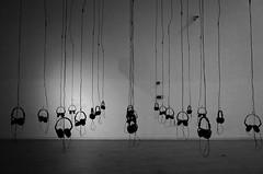 (Russell Siu) Tags: black white bw monochrome message art museum gallery shanghai headphone noise