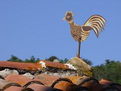 Girouette d'Eus (thiery49) Tags: girouette coq eus pyrnes toit tuile