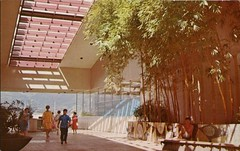 Ala Moana Shopping Center, Honolulu, Hawaii (SwellMap) Tags: postcard vintage retro pc chrome 50s 60s sixties fifties roadside midcentury populuxe atomicage nostalgia americana advertising coldwar suburbia consumer babyboomer kitsch spaceage design style googie architecture shop shopping mall plaza