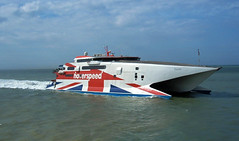 Hoverspeed Rapide, Dover, 2005 (andyflyer) Tags: hoverspeed seacat rapide seacatrapide catamaran highspeedferry ferry ship boat channelferry