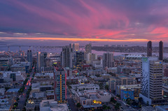 Downtown San Diego Sunset (without reservation) Tags: sandiego california downtown vantagepointe sonya7r sunset gaslamp eastvillage petcopark cityscape