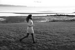(colorinspirit) Tags: blackwhite moment run blur seaside shoreline girl fall blackandwhite inmotion ocean people