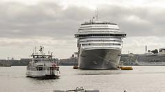 """Costa Pacifica"" visit Stockholm, Sweden 8/8 2016. (photoola) Tags: stockholm skeppsbron cruiser boat ferry photoola sweden sea water costapacifica"