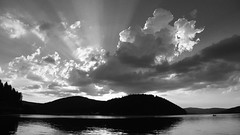 Sunset by the lake II. ((c)gphoto) Tags: sunset sun cloud clouds germany deutschland schluchsee canon eos6d nature beauty blackandwhite
