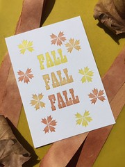 Fall letterpress print (artnoose) Tags: patreon etsy lettra equinox autumnal autumn falling fall leaves leaf type metal trylon red orange yellow club month print letterpress