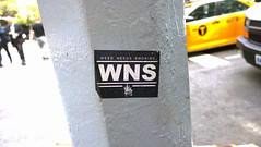 Weed Needs Smoking Sticker on NYC Lightpole (Barbara Brundage) Tags: weed needs smoking sticker nyc lightpole new york city july 2016