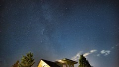 Milkyway and meteor above our house