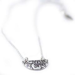 Tiny half circle lotus pendant (Abella Blue) Tags: abellablue maker handmade artjewelry artisanjewelry sterling silver jessicalopour fashion gift handmadegift utahart daintynecklace lotus lotuspetal petite petitejewelry
