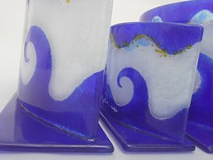 Greek Wave (Glass House by Dimitris Markopoulos) Tags: greek wave handmade fusing fused glass candle holder tableware home dcor design decoration decor inspiration interior ideas