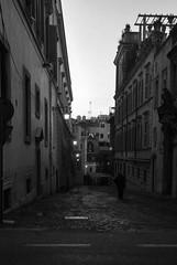 Calles de Roma (Leandro Fridman) Tags: calle caminante empedrado airelibre edificios roma urbana ciudad blancoynegro byn blackwhtie bw monochrome monocromo nikon d60