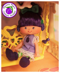 Custom Raisin Cane Doll (Plum's Place) Tags: raisin cane raisincane ooakdoll 80stoy retrotoys plumsplacecustoms plumsplace strawberryshortcake shortcake ssc purplepieman sourgrapes blueberrymuffin dolls handmadedolls