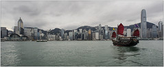 Cap sur Hong Kong (jacques-tati) Tags: bateau voilerouge baie bay hongkong asie mer buildings