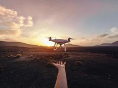 Unleashing the propellers (Oliver Astrologo) Tags: gopro goprofotheday goprocamera lanzarote drone pov landscape sunset turismolanzarote airberlin travel outdoor djii