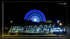 Feria San Nicasio 2016 - 001 (Pablo Gómez Photography) Tags: seleccionar feria san nicasio leganes 2016 nocturna noche noria protecion civil metro madrid mexicano mejicano luz luces bombillas larga exposicion night atraccion atraction nightly protection underground light long