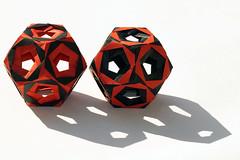 Open faced tornado kusudama (Aldos Marcell) (De Rode Olifant) Tags: openfacedtornadokusudama aldosmarcell origami marjansmeijsters paper paperfolding modular kusudama face