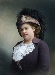 A fashionable russian lady, 1904 -1907 (klimbims) Tags: 1904 1907 1900s imperialrussia hat fashionable feathers lace