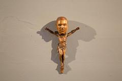 yeezus west (Rasande Tyskar) Tags: nils kasiske millerntor gallery art 2016 enjoy inequality icon ikone kreuzigung kreuz jesus kunst ausstellung crucifixion kanye west yeezus
