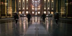 Leg It (Sean Batten) Tags: reflection window london england unitedkingdom gb rain people city urban ricoh gr streetphotography street upperground