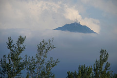 Pic du Midi Observatory surrounded by clouds (Frank ) Tags: dsc00550 picdumidiobservatory france stars milkyway univers sonya7r canonef frenchpyrenees observatoiredupicdumididebigorre crop topf25 topf50 topf100 topf150