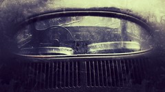 VW (davekrovetz) Tags: automobile beetle monotone iphoneography iphone antique window car vw